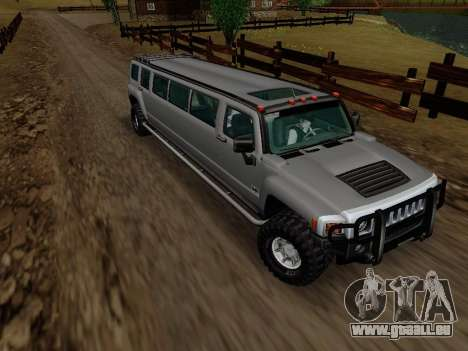 Hummer H3 Limousine pour GTA San Andreas vue arrière