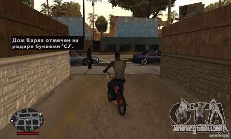 HUD for SAMP pour GTA San Andreas cinquième écran