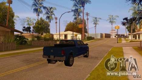 Dodge Ram 2500 HD 2012 pour GTA San Andreas laissé vue