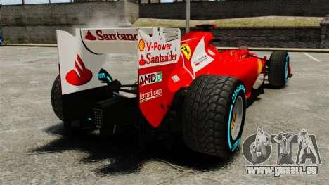 Ferrari F2012 für GTA 4 hinten links Ansicht
