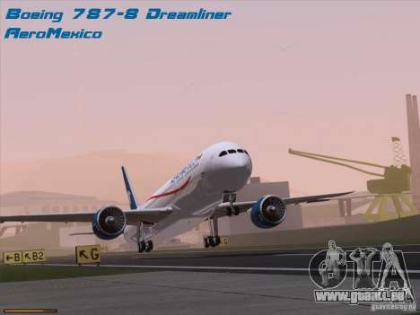 Boeing 787-8 Dreamliner AeroMexico pour GTA San Andreas
