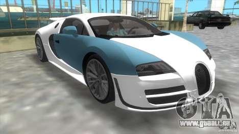 Bugatti ExtremeVeyron pour une vue GTA Vice City de la gauche