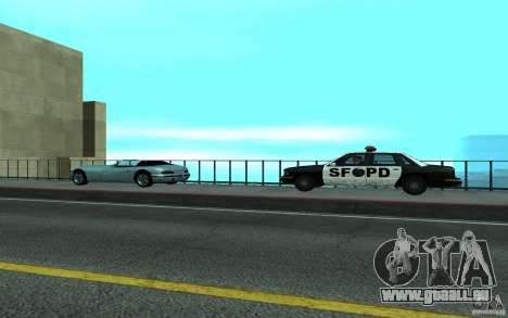Polizei an der Brücke, San Fierro für GTA San Andreas