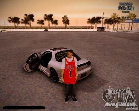 Peau Chicago Bulls pour GTA San Andreas deuxième écran
