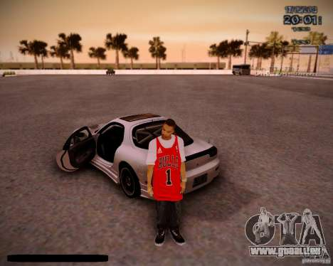 Haut Chicago Bulls für GTA San Andreas zweiten Screenshot