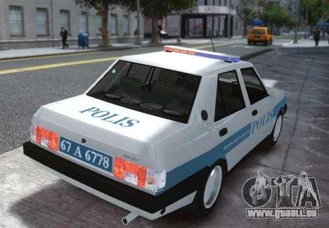 Tofas Sahin Turkish Police ELS pour GTA 4 Vue arrière de la gauche