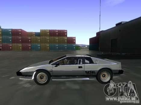 Lotus Esprit Turbo pour GTA San Andreas vue de droite