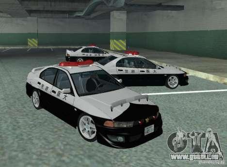 Mitsubishi Galant Police pour GTA San Andreas laissé vue
