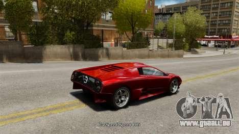 Vitesse du véhicule pour GTA 4 cinquième écran