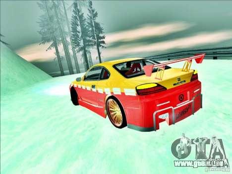 Nissan Silvia S15 Calibri-Ace pour GTA San Andreas vue arrière