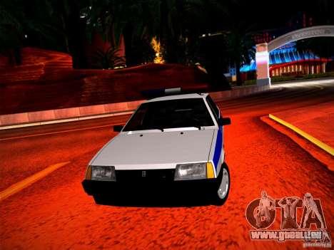 Police Vaz 2109 pour GTA San Andreas vue arrière