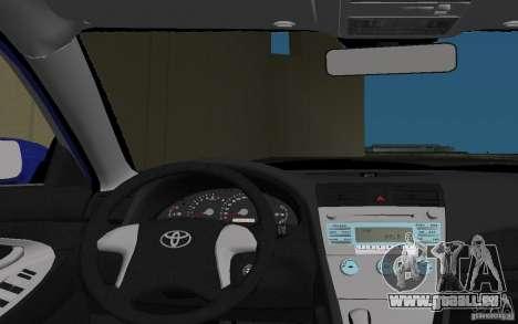 Toyota Camry 2007 für GTA Vice City Ansicht von unten