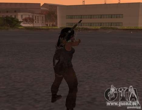 Skin Tomb Raider 2013 pour GTA San Andreas deuxième écran