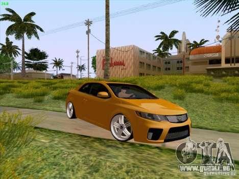 Kia Cerato Coupe 2011 für GTA San Andreas obere Ansicht
