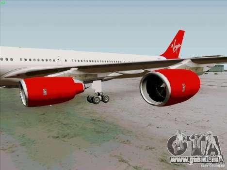 Airbus A-340-600 Virgin für GTA San Andreas Rückansicht