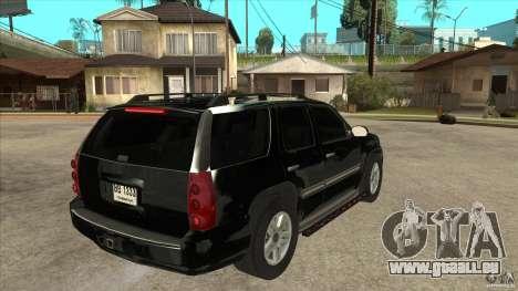 GMC Yukon Unmarked FBI pour GTA San Andreas vue de droite