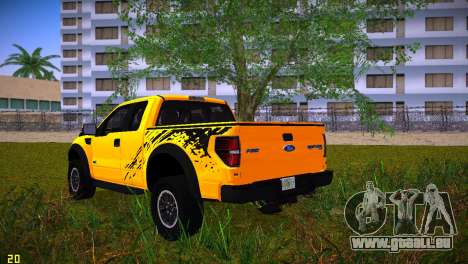 Ford F-150 SVT Raptor pour GTA Vice City vue latérale