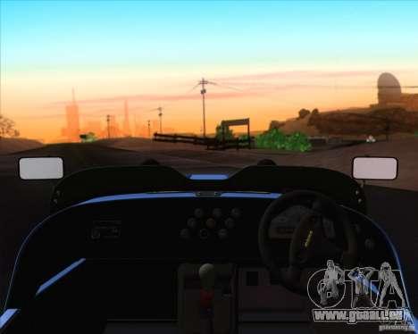 Caterham Superlight R500 pour GTA San Andreas vue de dessus