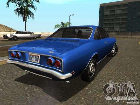 Chevrolet Corvair Monza 1969 für GTA San Andreas zurück linke Ansicht