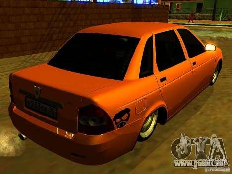 LADA 2170 Anzhi Makhachkala pour GTA San Andreas laissé vue