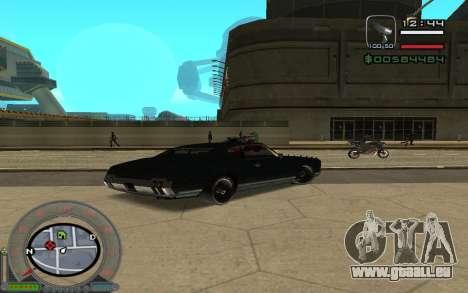 New Sabre pour GTA San Andreas sur la vue arrière gauche