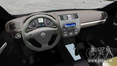 Volkswagen Jetta 2010 pour GTA 4 Vue arrière