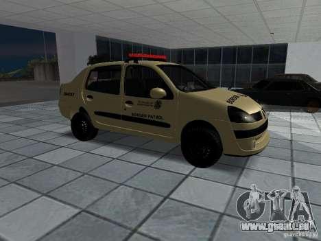 Renault Clio Symbol Police für GTA San Andreas rechten Ansicht