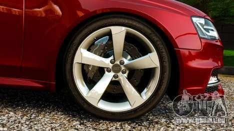 Audi RS4 Avant 2013 pour GTA 4 est un côté