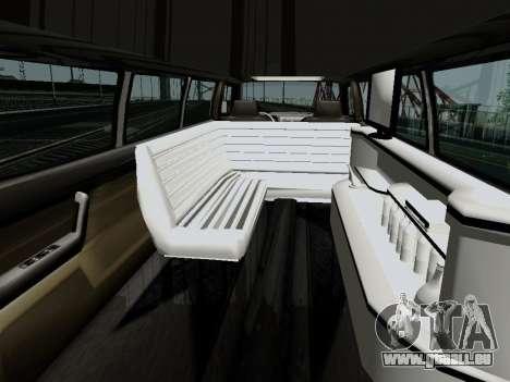 Hummer H3 Limousine für GTA San Andreas zurück linke Ansicht