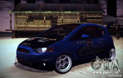Mitsubishi Colt Rallyart Carbon 2010 pour GTA San Andreas