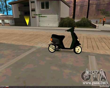 Piaggio Zip pour GTA San Andreas vue de droite