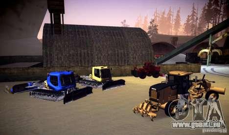 Caterpillar 140AWD Motorgrader pour GTA San Andreas vue intérieure