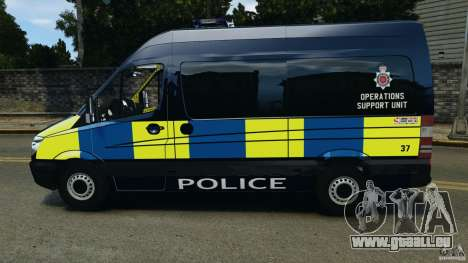 Mercedes-Benz Sprinter Police [ELS] für GTA 4 linke Ansicht