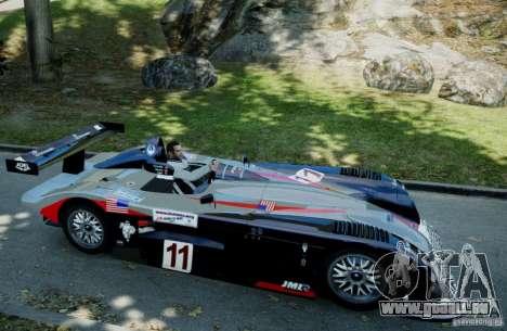 Panoz LMP-1 Roadster S 2003 pour GTA 4 Vue arrière de la gauche