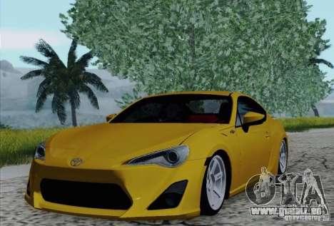 Toyota GT86 pour GTA San Andreas vue de dessous