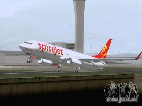 Boeing 737-8F2 Spicejet pour GTA San Andreas vue de côté