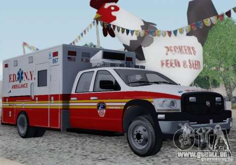 Dodge Ram Ambulance für GTA San Andreas