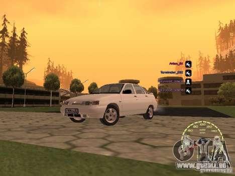 Compteur de vitesse Lada Priora pour GTA San Andreas quatrième écran