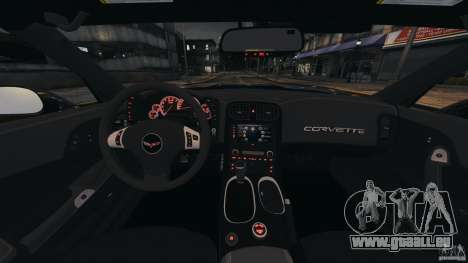 Chevrolet Corvette ZR1 für GTA 4 Unteransicht