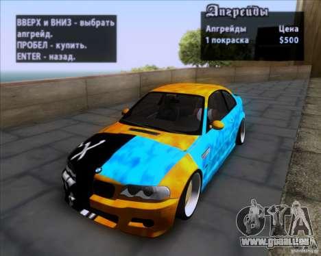 BMW 3-er E46 Dope pour GTA San Andreas vue de côté