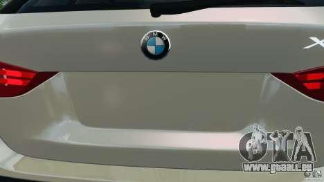 BMW X1 pour GTA 4 est une vue de dessous