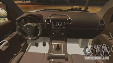 Volkswagen Amarok TDI pour GTA 4 est une vue de l'intérieur