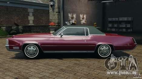 Cadillac Eldorado 1968 pour GTA 4 est une gauche