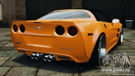 Chevrolet Corvette ZR1 pour GTA 4 est une vue de l'intérieur