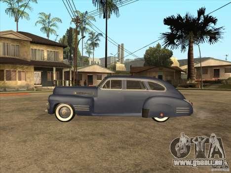 Cadillac 61 1941 pour GTA San Andreas sur la vue arrière gauche