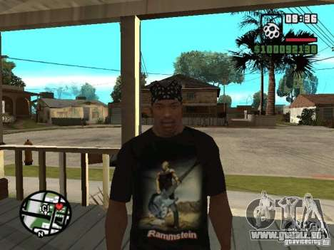 Rammstein T-shirt v1 für GTA San Andreas