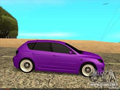Mazda Speed 3 Stance pour GTA San Andreas laissé vue
