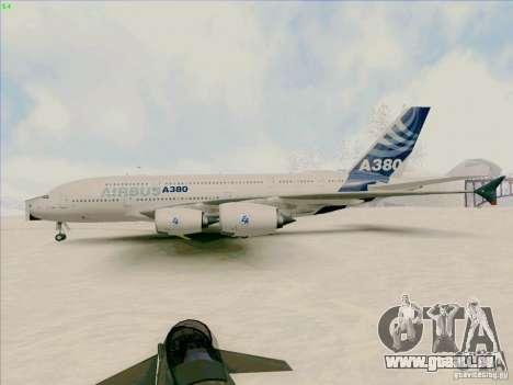 Airbus A380-800 für GTA San Andreas zurück linke Ansicht