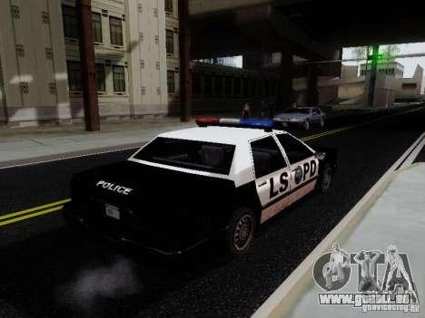 Elegant Police LS pour GTA San Andreas sur la vue arrière gauche