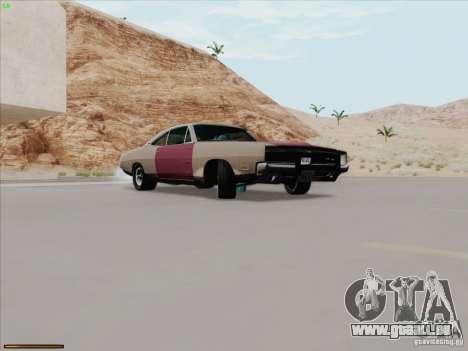 Dodge Charger 1969 pour GTA San Andreas sur la vue arrière gauche